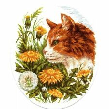 KLART COUNTED CROSS STITCH KIT THE CAT IN DANDELIONS NEW