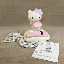 "Hello Kitty Angel 9"" Telephone KT2010 Landline w Caller ID Light Up Wings & Wand"