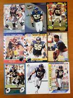 Junior Seau HOF ROOKIES - NICE 9 CARD LOT San Diego Chargers / USC Trojans