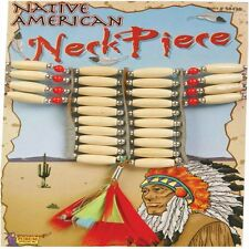 Native American Necklace Beaded Indian Fancy Dress Halloween Costume Accessory