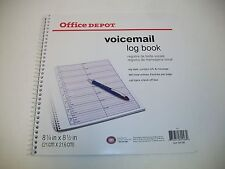 "Voicemail Log Book, 960 Entries, 1 Part,  8-1/4"" x 8-1/2"" (158-093)"
