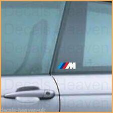 2x BMW M Motorsport Logo Stripes Decal Sticker 9x3 cm M3 M5 Z3 Z4 X5 M Series 2