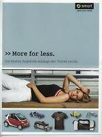 Smart More for less Zubehör Accessories Prospekt 2008 Autoprospekt Broschüre Pkw