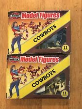Vintage Airfix 1/32 Scale Cowboys 2 11 piece boxes both complete in box
