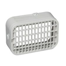 3 x 4 in. Downspout Rodent Guard White Plastic Gutter Grate Universal Attachment