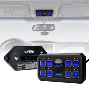 Xprite Universal 8 Gang Switch Panel Box Control System for Car Truck Jeep UTV