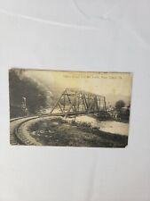 RPPC Postcard Trolley Bridge Over The Juniata River Tyrone Pa Blair County
