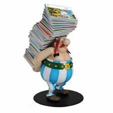 Asterix,Obelix carrying pile of Books Collectible Figure,Figurine by Plastoy NEW