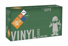 Safety Zone GVP9 Clear Vinyl Exam Gloves, Large, 100/BX