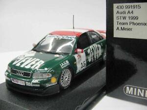 WOW EXTREMELY RARE Audi A4 Quattro #15 Meier Sachsn STW 1999 1:43 Minichamps-RS4