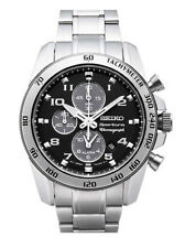 SEIKO Sportura Alarm Chronograph SNAE61P1 Mens Sapphire Black Dial 100m Watch