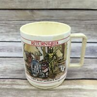 Vintage 1983 Deka Star Wars Return of the Jedi Princess Leia Plastic Mug Cup