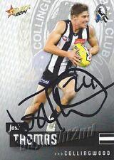 ✺Signed✺ 2014 COLLINGWOOD MAGPIES AFL Card JOSH THOMAS