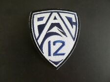 PAC 12 CONFERENCE*NCAA BLACK & WHITE EMBROIDERED IRON ON PATCHES  2-3/4 X 3-1/4