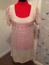 Topshop knit dress, oaty,  size 8 vgc, acrylic, nylon, mohair mix