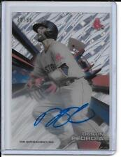 Dustin Pedroia 2015 Topps High Tek Diffractor Auto #30/99 Red Sox