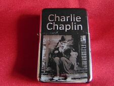 Charlie Chaplin Engraved / Impact Printed Fuel STAR Lighter With Gift Box