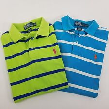 Polo Ralph Lauren Womens Short Sleeve Striped Polo Shirts S/P Lot of Two