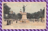 CPA 33 - BORDEAUX - Statue de vercingétorix et les allées damour