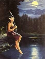 Indian Maiden Lake Trees Moon