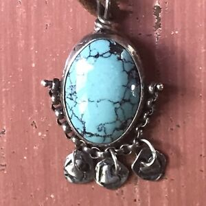 JES MAHARRY 'MYSTIC TRAVELER' NECKLACE- STERLING SILVER, TURQUOISE