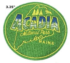 Acadia National Park Patch Souvenir Travel Embroidered Iron / Sew-on