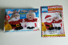 Let's Knit Magazine Cristmas Knitting Kit Santa & Mrs. Clause #137 2018 New