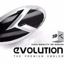 (Fit: KIA 2011-2017 Optima K5) K Logo 3D Emblem 2pc SET Front + Rear