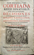 1677 – CORTIADA, DECISIONES SENATUS CATHALONIAE – DIRITTO GIURISPRUDENZA SPAGNA