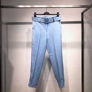 Pantalone donna aderente  sigaretta slim fit vita alta sartoriale elegante 12085