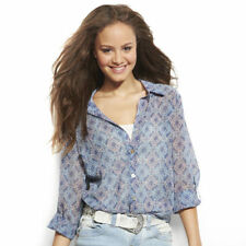 About A Girl Long Sleeve Sheer $36 Blouse- Junior's M-L-XL