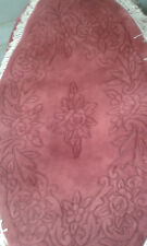 Brand New Hand Made Chinese 100% Wool Rug OVAL  5X3FT  FRENCH ROSE CARVE PATRN