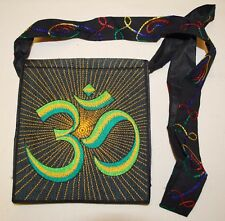 New Fair Trade Shoulder Bag - Hippy Hippie Ethical Ethnic Nepal Embroidered Om