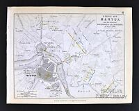 1850 Johnston Military Map - Napoleon Siege of Mantua 1796 Italy Fort St. George