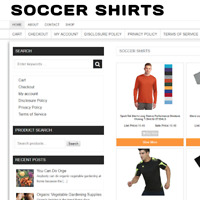SOCCER SHIRTS UK WEBSITE BUSINESS WITH NEW DOMAIN & 1 YEARS HOSTING
