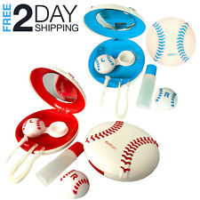 5 PCs Contact Lens Case Baseball Travel Kit  Storage Box Container with Mirror