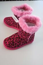 NIB Western Chief -9- Toddler Little Girl's Boots Bootie Cheetah Pink Warm