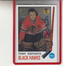 "2001-02 TOPPS OPC ARCHIVES TONY ESPOSITO ""CHICAGO BLACKHAWKS"" AUTOGRAPH AUTO"
