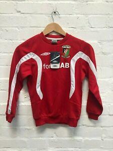 Umbro Glentoran FC Kid's Training Sweat Fleece Top - Red - New