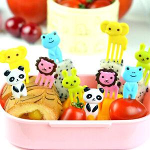 10pcs Bento Cute Animal Food Fruit Picks Forks Kids Lunch Box Decor Accessories