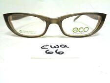 31bdc1aa929 Nos ECO OPTICS Eyeglasses Frame 1058 01V Olive Brown Rectangular (EWQ-66)