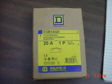 "Lot of 2 Square D Egb14020 20 amp 1 pole 277v Circuit Breaker ""New"""