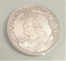 Silber Münze Ag Medaille o.J.✨ Österreich grüßt die Welt ✨Frau mit Hut in Tracht