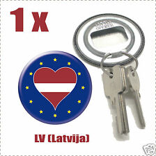 Décapsuleur porte clef Drapeau Europa  Flag LV-(Latvija)