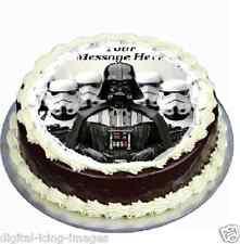 Star Wars Darth Vader cake topper edible icing 19cm round fondant.