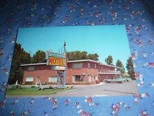 Old Postcard Evanston Wyoming Vagabond Motel Int 80