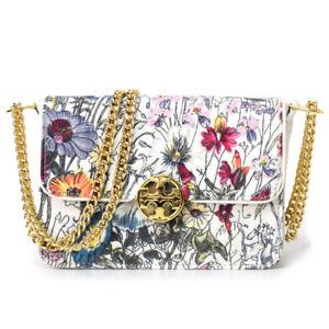 Tory Burch Duet Melody Floral MINI Shoulder Leather Women's Handbag Purse $358