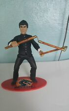 Loose Sideshow Bruce Lee Black Outfit Action Figure w/ Nunchucks and Stand