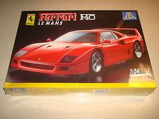 Ferrari F40 le mans 1:24 scale plastic model kit par italeri new & sealed