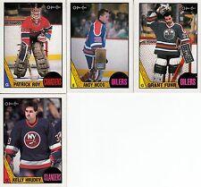 LOT 4 CARTES 1987-88 OPC INCLUE # 163 PATRICK ROY a